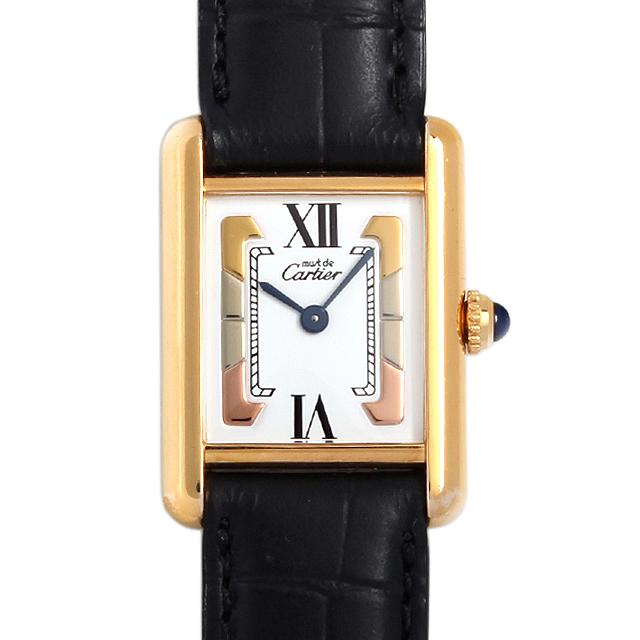 【48回払いまで無金利】カルティエ マストタンク ヴェルメイユ SM W1006354 レディース(006XCAAU0059)【中古】【腕時計】【送料無料】