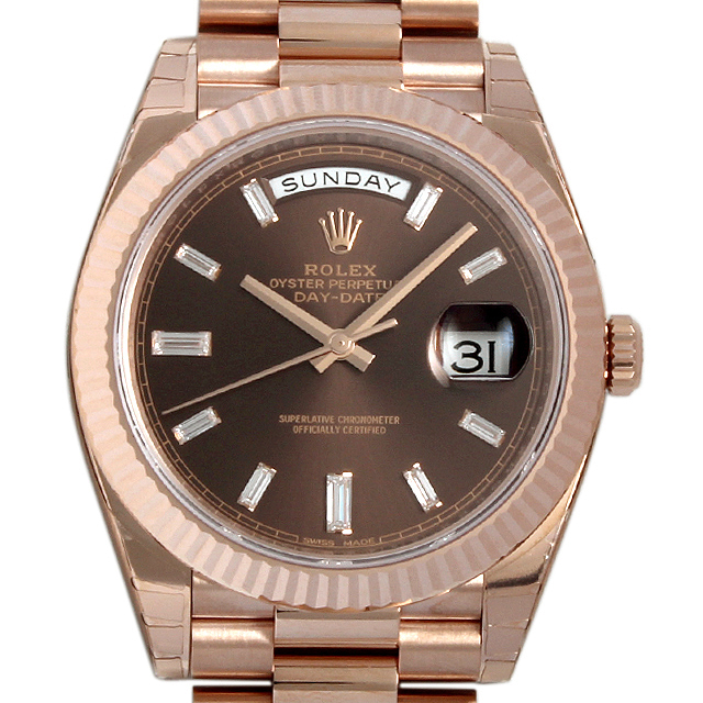 【48回払いまで無金利】ロレックス デイデイト40 228235A チョコレートブラウン メンズ(006MROAR0005)【新品】【腕時計】【送料無料】