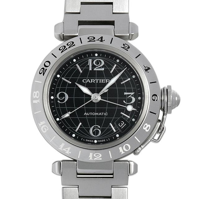 【48回払いまで無金利】カルティエ パシャC メリディアン GMT ビッグデイト W31049M7 ボーイズ(ユニセックス)(001HCAAU0031)【中古】【腕時計】【送料無料】