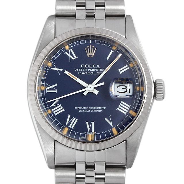 【48回払いまで無金利】ロレックス デイトジャスト 80番 1601 ブルー/ローマ メンズ(007UROAA0034)【アンティーク】【腕時計】【送料無料】