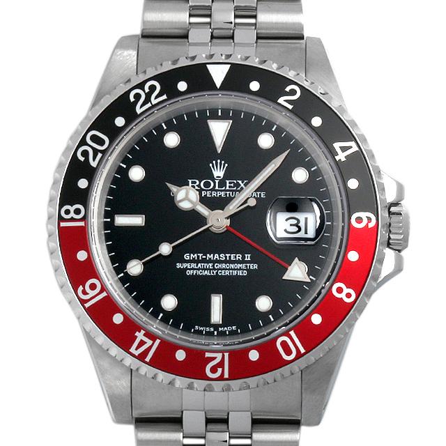 【48回払いまで無金利】ロレックス GMTマスターII 赤黒ベゼル K番 16710 メンズ(06ZTROAU0001)【中古】【腕時計】【送料無料】