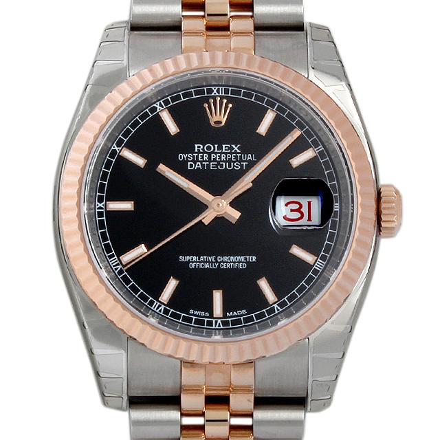 【48回払いまで無金利】ロレックス デイトジャスト36 116231 ブラック/バー メンズ(009FROAN0050)【新品】【腕時計】【送料無料】