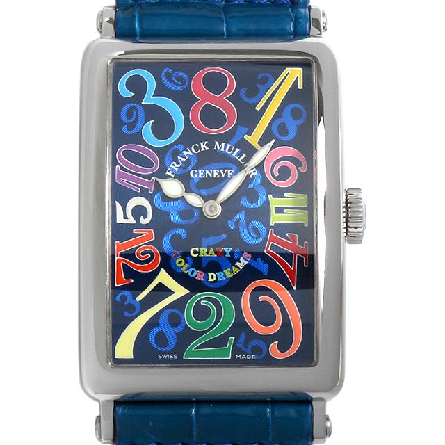 【48回払いまで無金利】フランクミュラー ロングアイランド クレイジーアワーズ カラードリームス 1200CH CD AC メンズ(0015FRAU0002)【中古】【腕時計】【送料無料】