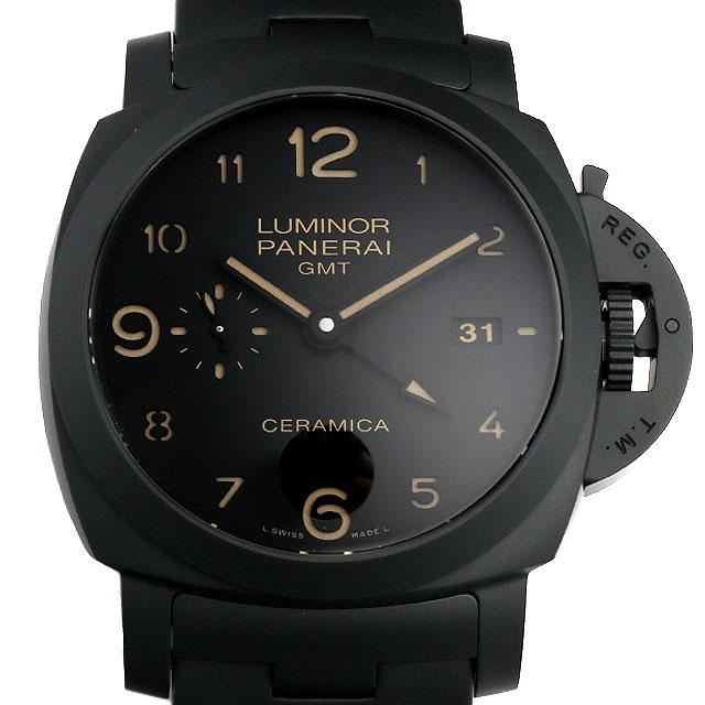 【48回払いまで無金利】SALE パネライ トゥットネロ ルミノール1950 3DAYS GMT P番 PAM00438 メンズ(007UOPAU0053)【中古】【腕時計】【送料無料】