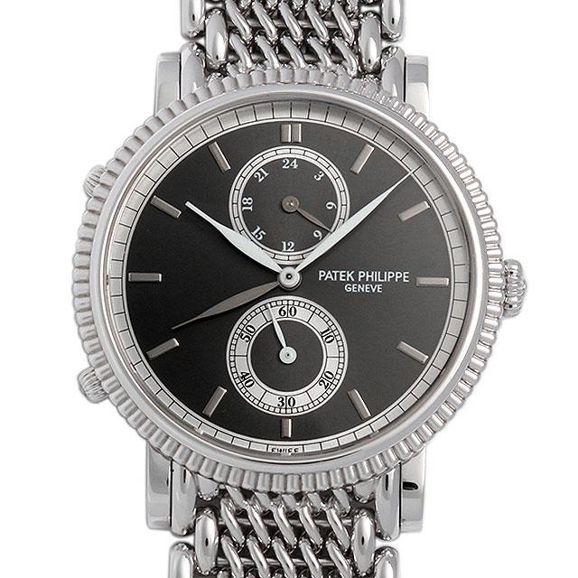 SALE パテックフィリップ カラトラバ トラベルタイム 5034/1G-001 メンズ(007UPPAU0034)【中古】【腕時計】【送料無料】