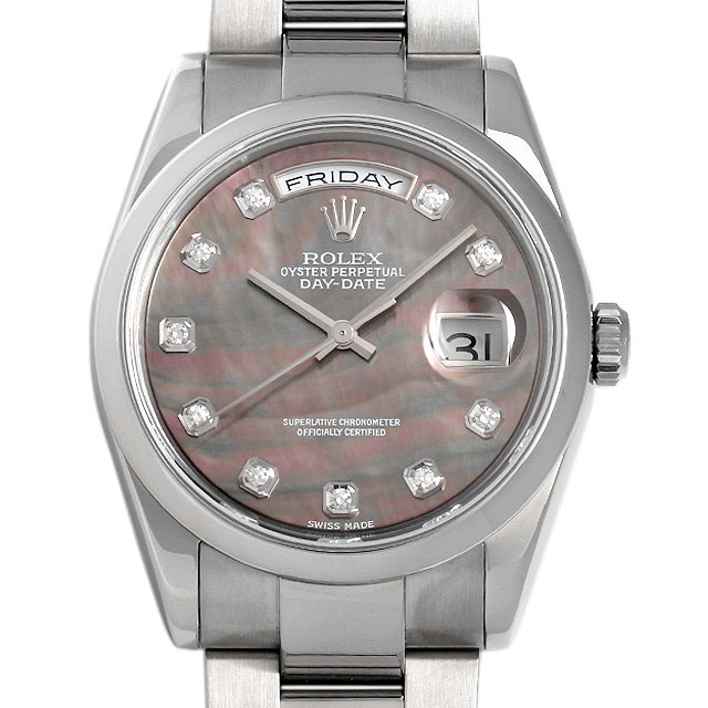 ロレックス デイデイト 10Pダイヤ P番 118209NG メンズ(027YROAT0005)【中古】【腕時計】【送料無料】