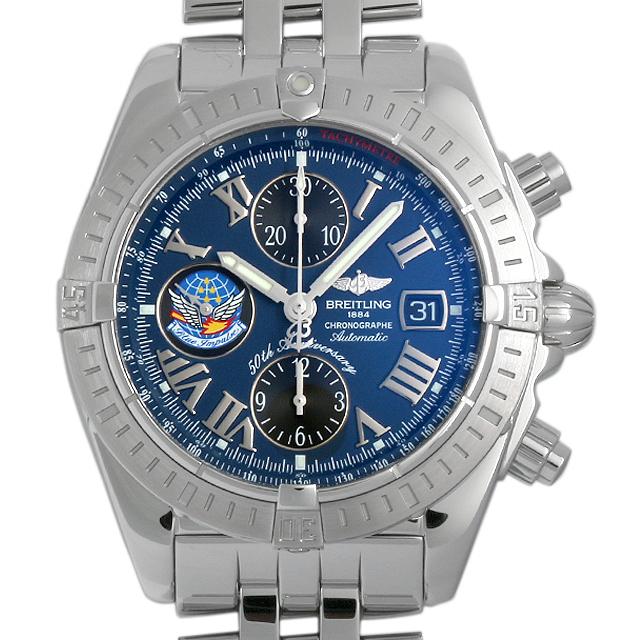【48回払いまで無金利】ブライトリング クロノマットエボリューション ブルーインパルス A156CBIPA(A13356) メンズ(078FBRAU0001)【中古】【腕時計】【送料無料】