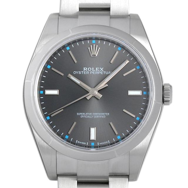 【48回払いまで無金利】ロレックス オイスターパーペチュアル39 114300 ダークロジウム メンズ(07NDROAN0110)【新品】【腕時計】【送料無料】