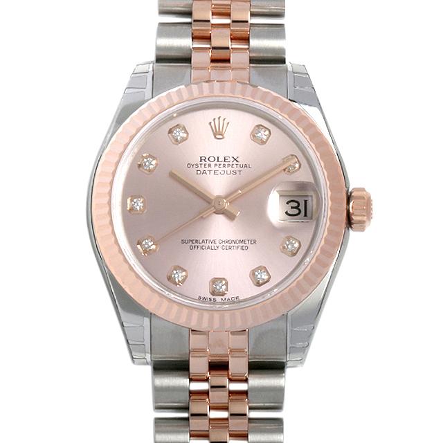 【48回払いまで無金利】ロレックス デイトジャスト 10Pダイヤ 178271G ピンク (ユニセックス)(0018ROAR0039)【新品】【腕時計】【送料無料】