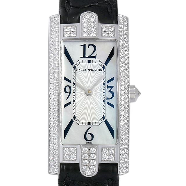 【48回払いまで無金利】ハリーウィンストン アヴェニューC ベゼルダイヤ 330/LQWL.M/D3.2 レディース(007UHWAU0015)【中古】【腕時計】【送料無料】