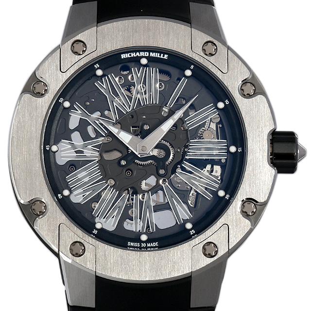 【48回払いまで無金利】リシャールミル オートマチック ラウンド エクストラフラット RM033 メンズ(02UIRMAU0001)【中古】【腕時計】【送料無料】