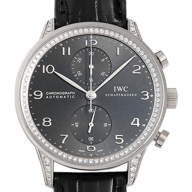 【48回払いまで無金利】SALE IWC ポルトギーゼ クロノグラフ ダイヤモンドコレクション IW371474 メンズ(0808IWAU0001)【中古】【腕時計】【送料無料】
