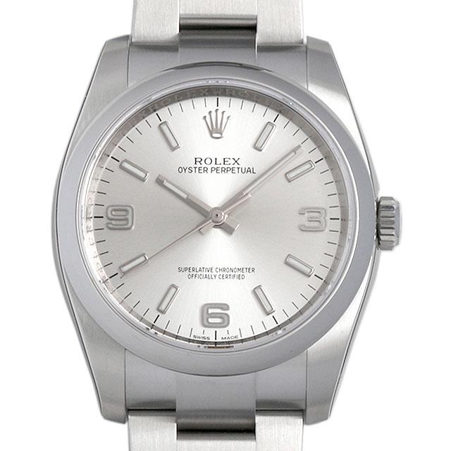 【48回払いまで無金利】ロレックス オイスターパーペチュアル 116000 シルバー/369ホワイトバー メンズ(0066ROAN0010)【新品】【腕時計】【送料無料】