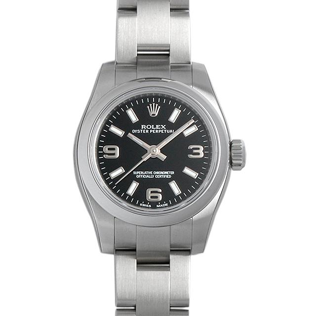 ロレックス オイスターパーペチュアル 176200 ブラック/369ホワイトバー レディース(0066ROAN0081)【新品】【腕時計】【送料無料】