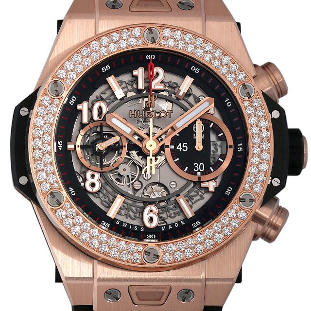 【48回払いまで無金利】ウブロ ビッグバン ウニコ キングゴールド ダイヤモンド 411.OX.1180.RX.1104 メンズ(006MHBAN0093)【新品】【腕時計】【送料無料】