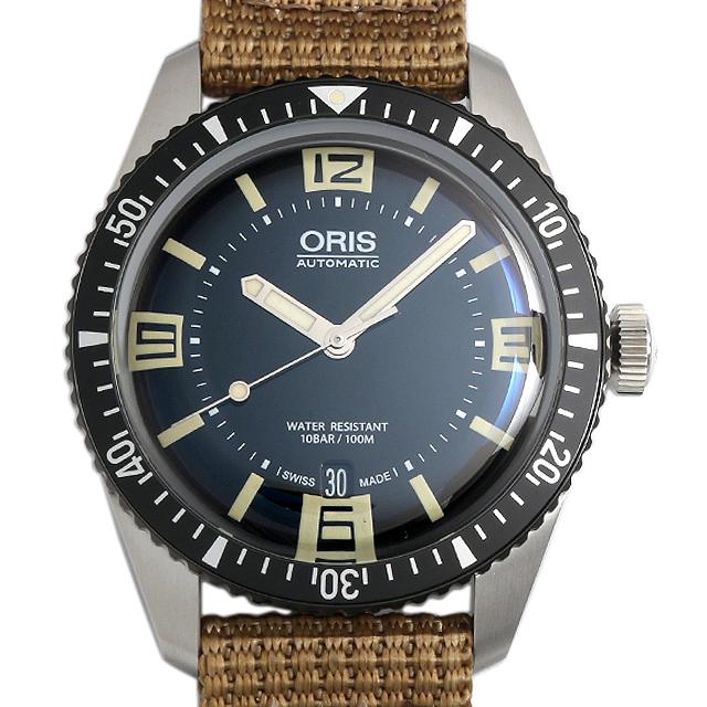 オリス ダイバーズ65 733 7707 4064F ベージュナイロンストラップ メンズ(006TOSAN0008)【新品】【腕時計】【送料無料】