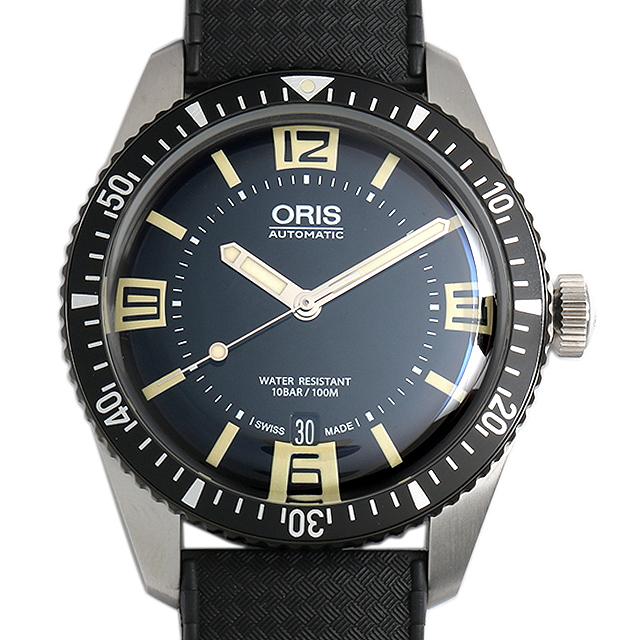 オリス ダイバーズ65 733 7707 4064F ブラックラバーベルト メンズ(006TOSAN0007)【新品】【腕時計】【送料無料】