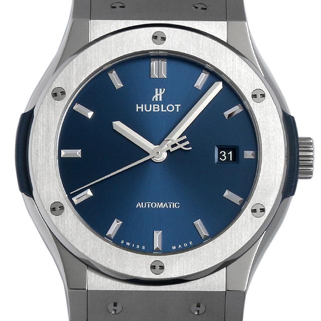 ウブロ クラシックフュージョン チタニウム ブルー 542.NX.7170.LR メンズ(0050HBAS0001)【中古】【未使用】【腕時計】【送料無料】