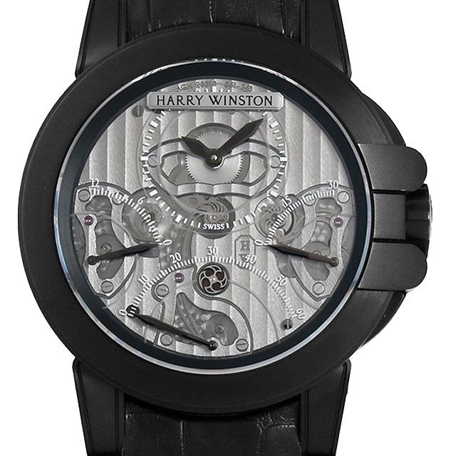 【48回払いまで無金利】ハリーウィンストン オーシャン クロノグラフ トリプルレトログラード ブラックザリウム 400/MCRA44ZKL.S メンズ(009VHWAU0015)【中古】【腕時計】【送料無料】