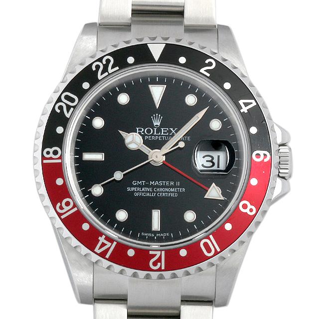 SALE ロレックス GMTマスターII 赤黒ベゼル スティックダイアル Z番 16710 メンズ(01ESROAU0002)【中古】【腕時計】【送料無料】
