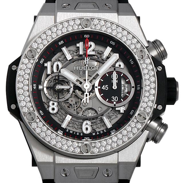 【48回払いまで無金利】ウブロ ビッグバン ウニコ チタニウム ダイヤモンド 411.NX.1170.RX.1104 メンズ(006MHBAN0095)【新品】【腕時計】【送料無料】