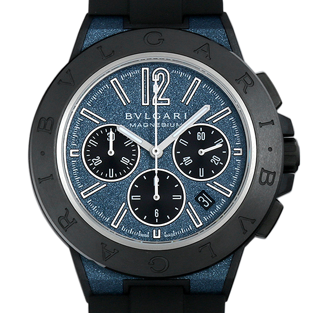 【48回払いまで無金利】ブルガリ ディアゴノ マグネシウム クロノグラフ ブルーラッカー DG42C3SMCVDCH メンズ(015PBVAN0009)【新品】【腕時計】【送料無料】