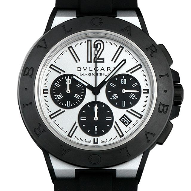 【48回払いまで無金利】ブルガリ ディアゴノ マグネシウム クロノグラフ DG42WSMCVDCH シルバーラッカー メンズ(0CZOBVAN0004)【新品】【腕時計】【送料無料】