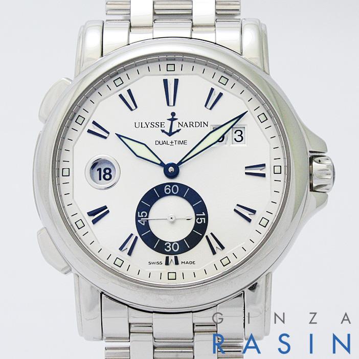 【48回払いまで無金利】ユリスナルダン デュアルタイム ビッグデイト 243-55-7/91 メンズ【新品】【腕時計】【送料無料】