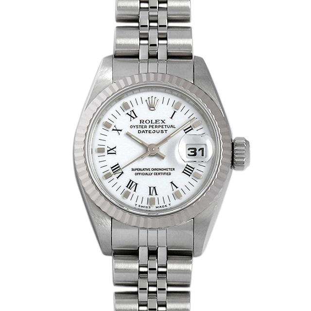 ロレックス デイトジャスト S番 69174 ホワイト/ブラックローマ レディース(0014ROAU0067)【中古】【腕時計】【送料無料】
