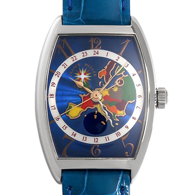 【48回払いまで無金利】SALE フランクミュラー ワールドワイドヨーロッパ 2852WW OG メンズ(0515FRAU0002)【中古】【腕時計】【送料無料】