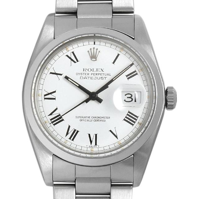 ロレックス デイトジャスト 61番 16000 ホワイト/ローマ メンズ(096UROAU0001)【中古】【腕時計】【送料無料】