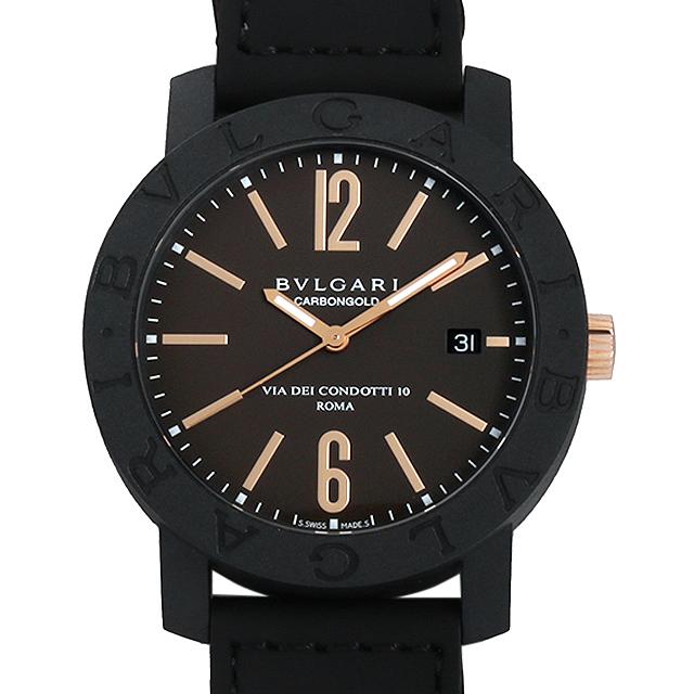 ブルガリ ブルガリブルガリ カーボンゴールド BBP40C11CGLD ブラウン メンズ(0068BVAN0089)【新品】【腕時計】【送料無料】