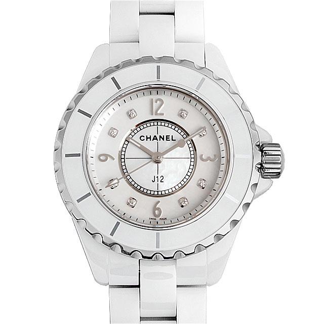 【48回払いまで無金利】シャネル J12 白セラミック 8Pダイヤ H2422 レディース(0064CHAN0033)【新品】【腕時計】【送料無料】