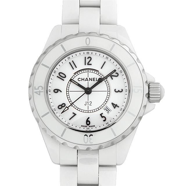 【48回払いまで無金利】シャネル J12 白セラミック H0968 レディース(004UCHAN0009)【新品】【腕時計】【送料無料】