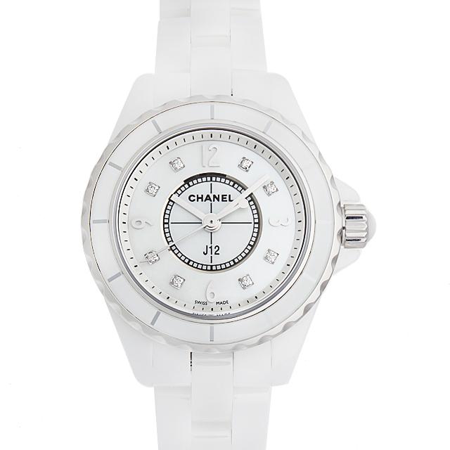 【48回払いまで無金利】シャネル J12 白セラミック 8Pダイヤ H2570 レディース(0FHMCHAN0068)【新品】【腕時計】【送料無料】