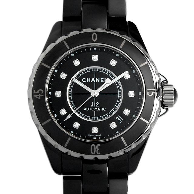 【48回払いまで無金利】シャネル J12 黒セラミック 12Pダイヤ H1626 メンズ(0671CHAN0455)【新品】【腕時計】【送料無料】