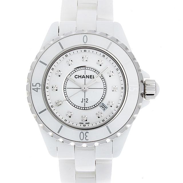 【48回払いまで無金利】シャネル J12 白セラミック 12Pダイヤ H1628 レディース(0671CHAN0342)【新品】【腕時計】【送料無料】