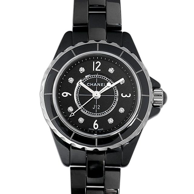 【48回払いまで無金利】シャネル J12 黒セラミック 8Pダイヤ H2569 レディース(0FHMCHAN0033)【新品】【腕時計】【送料無料】