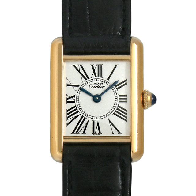 【48回払いまで無金利】カルティエ マストタンク ヴェルメイユ SM W1005554 レディース(006XCAAU0077)【中古】【腕時計】【送料無料】