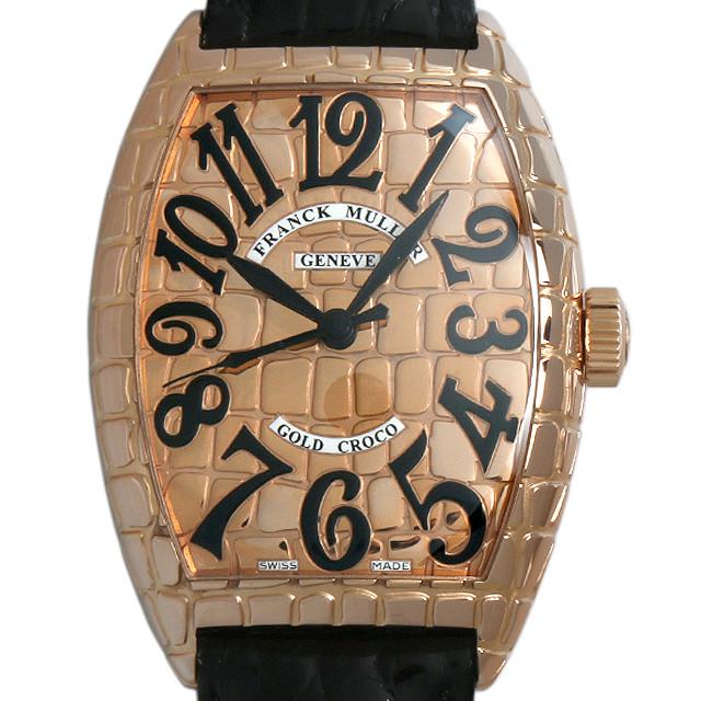 【48回払いまで無金利】SALE フランクミュラー トノーカーベックス ゴールドクロコ 8880SC GOLD CRO 4N メンズ(006XFRAU0078)【中古】【腕時計】【送料無料】