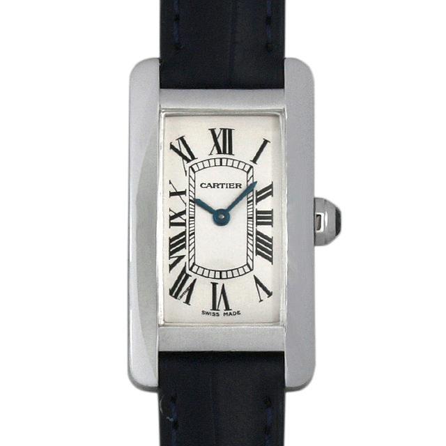 【48回払いまで無金利】カルティエ タンクアメリカン W2601956 レディース(007UCAAU0057)【中古】【腕時計】【送料無料】
