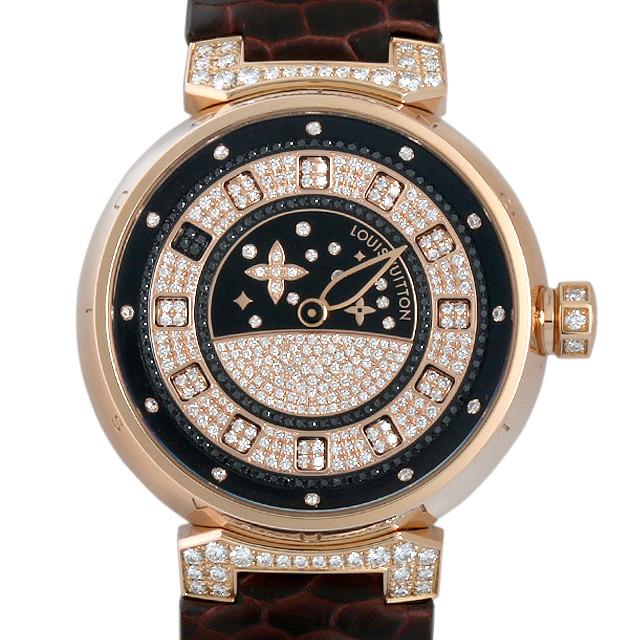 ルイヴィトン タンブール スピンタイム Q11C50 メンズ(007ULVAU0008)【中古】【腕時計】【送料無料】