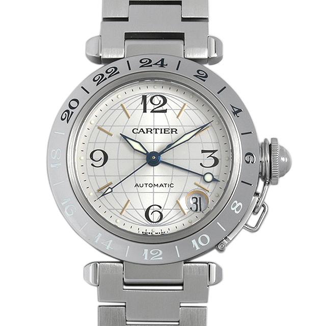 【48回払いまで無金利】カルティエ パシャC GMT メリディアン W31029M7 メンズ(08XBCAAU0001)【中古】【腕時計】【送料無料】