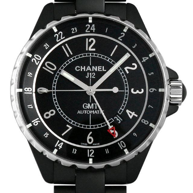 【48回払いまで無金利】シャネル J12 GMT マットブラック H3101 メンズ(09ABCHAU0001)【中古】【腕時計】【送料無料】