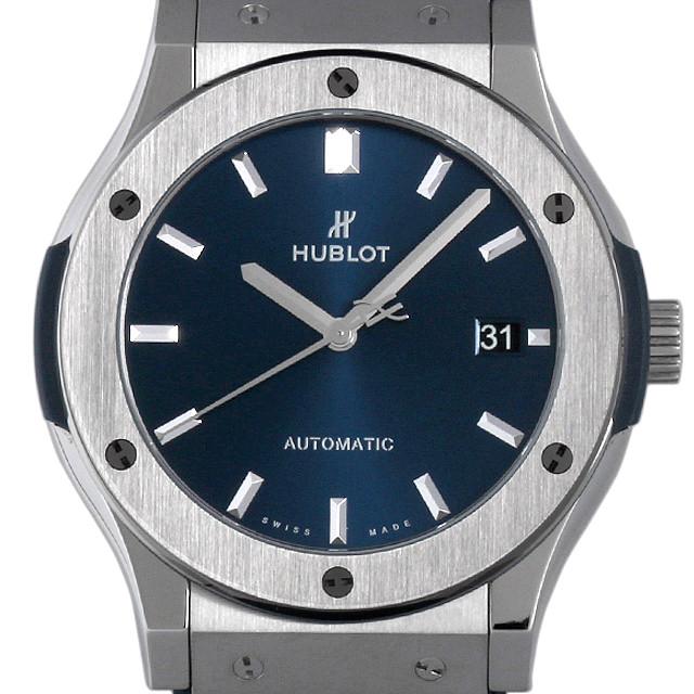 【48回払いまで無金利】ウブロ クラシックフュージョン チタニウム ブルー 511.NX.7170.LR メンズ(009FHBAS0006)【中古】【未使用】【腕時計】【送料無料】