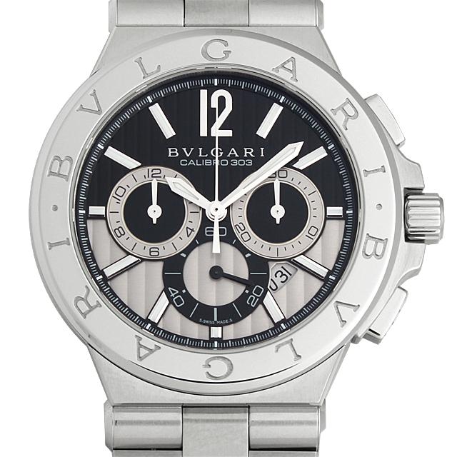 【48回払いまで無金利】SALE ブルガリ ディアゴノ カリブロ303 DG42BSSDCH メンズ(003IBVAS0006)【中古】【未使用】【腕時計】【送料無料】