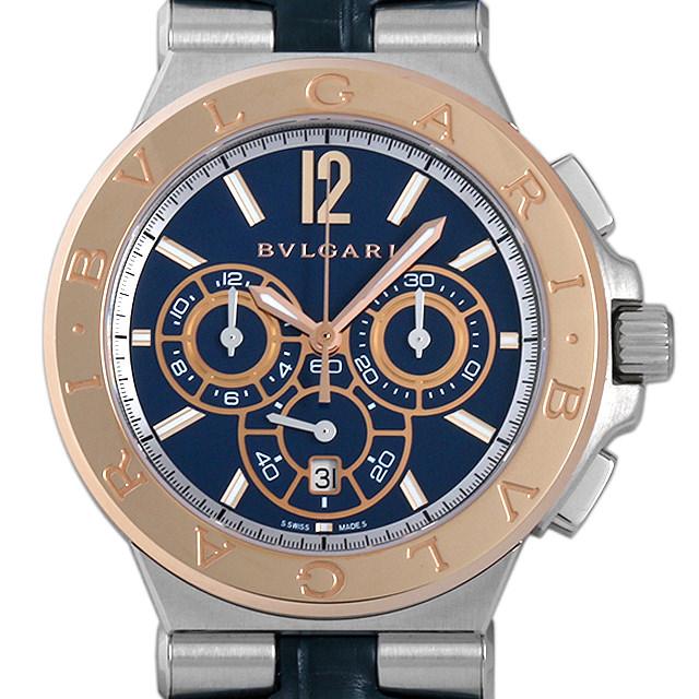 【48回払いまで無金利】SALE ブルガリ ディアゴノ カリブロ303 クロノグラフ DG42C3SPGLDCH メンズ(003IBVAS0005)【中古】【未使用】【腕時計】【送料無料】