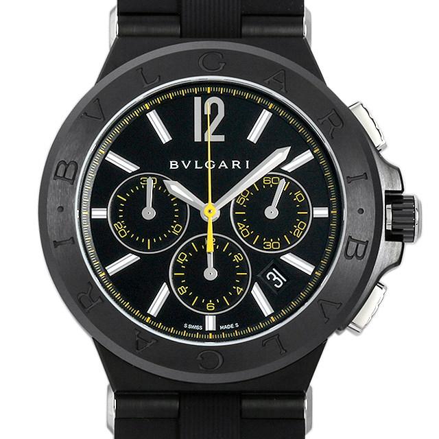ブルガリ ディアゴノ ウルトラネロ クロノグラフ DG42BBSCVDCH/2 メンズ(003IBVAS0008)【中古】【未使用】【腕時計】【送料無料】