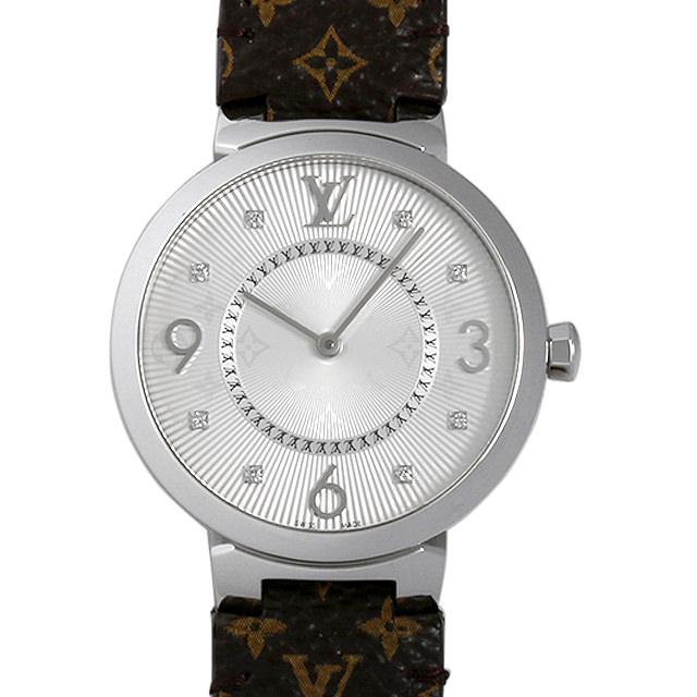 ルイヴィトン タンブール モノグラム 8Pダイヤ Q13MJ ボーイズ(ユニセックス)(006XLVAU0007)【中古】【腕時計】【送料無料】