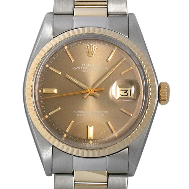 ロレックス デイトジャスト 32番 1601 ブラウン/バー メンズ(007UROAA0039)【アンティーク】【腕時計】【送料無料】